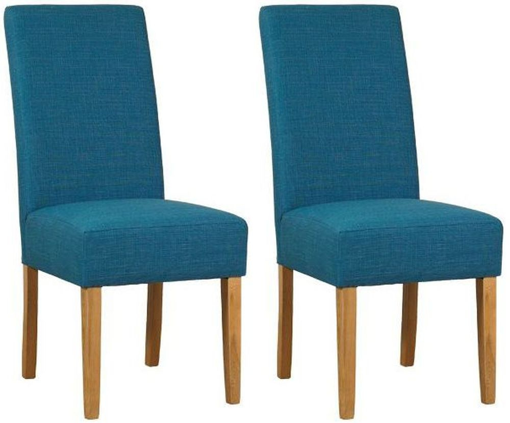 Mark Webster Parason Teal Fabric Dining Chair - FR18607 (Pair)