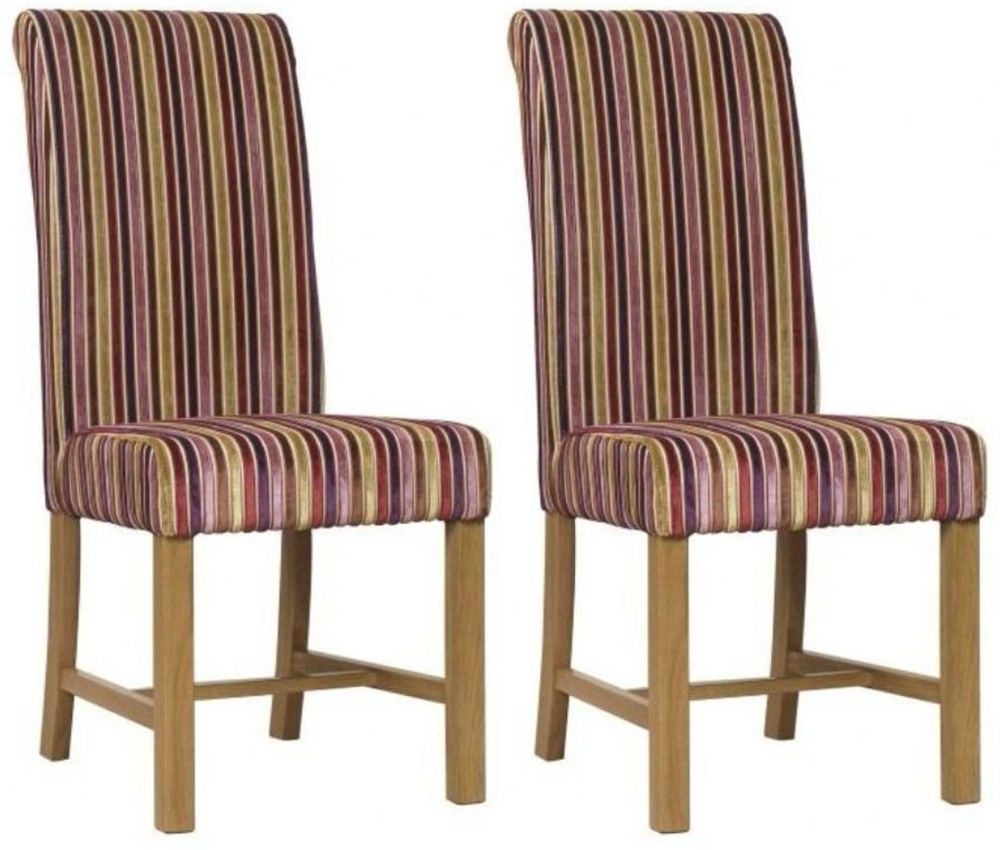 Mark Webster Shiraz Deluxe Stripe Dining Chair - FR17360 (Pair)