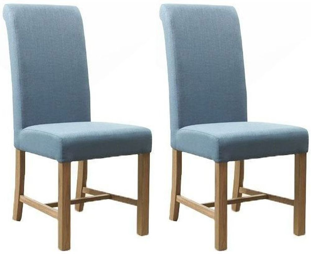 Mark Webster Teal Fabric Dining Chair - FR17889 (Pair)
