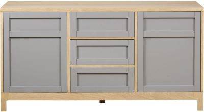 Mark Webster Fusion Oak Large Sideboard - 2 Door 3 Drawer