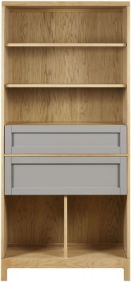 Mark Webster Fusion Oak Tall Bookcase with 2 Drawer