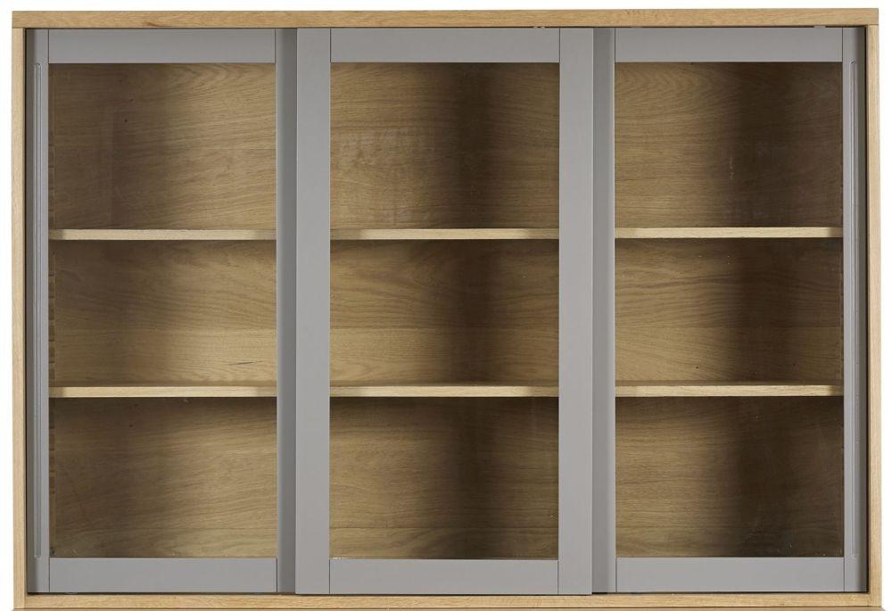 Mark Webster Fusion Oak Glazed Hutch - Large 3 Door