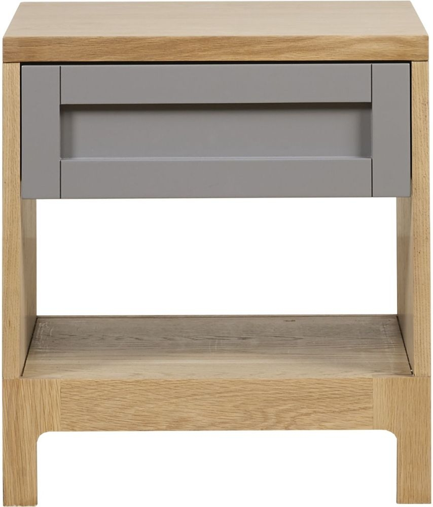 Mark Webster Fusion Oak Lamp Table with Drawer
