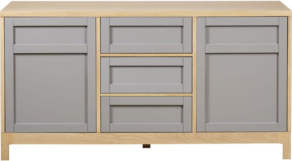 Mark Webster Fusion Oak Large Sideboard - 2 Door 3 Drawer