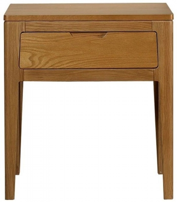 Mark Webster Geo Oak Lamp Table with Drawer