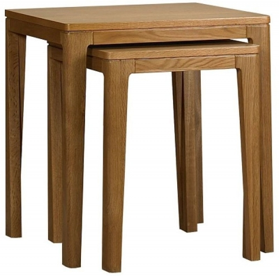 Mark Webster Geo Oak Nest of Tables