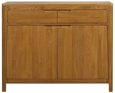 Mark Webster Geo Oak Sideboard - Small 2 Drawer