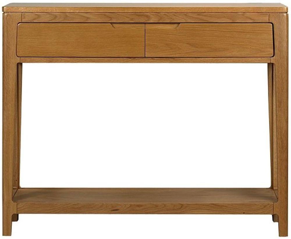 Mark Webster Geo Oak Console Table - 2 Drawer