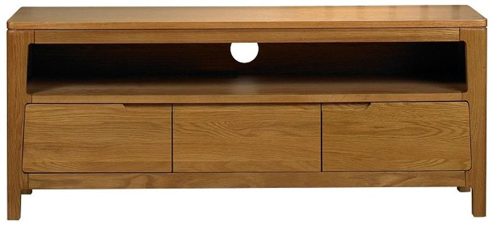 Mark Webster Geo Oak Media Unit - 3 Drawer