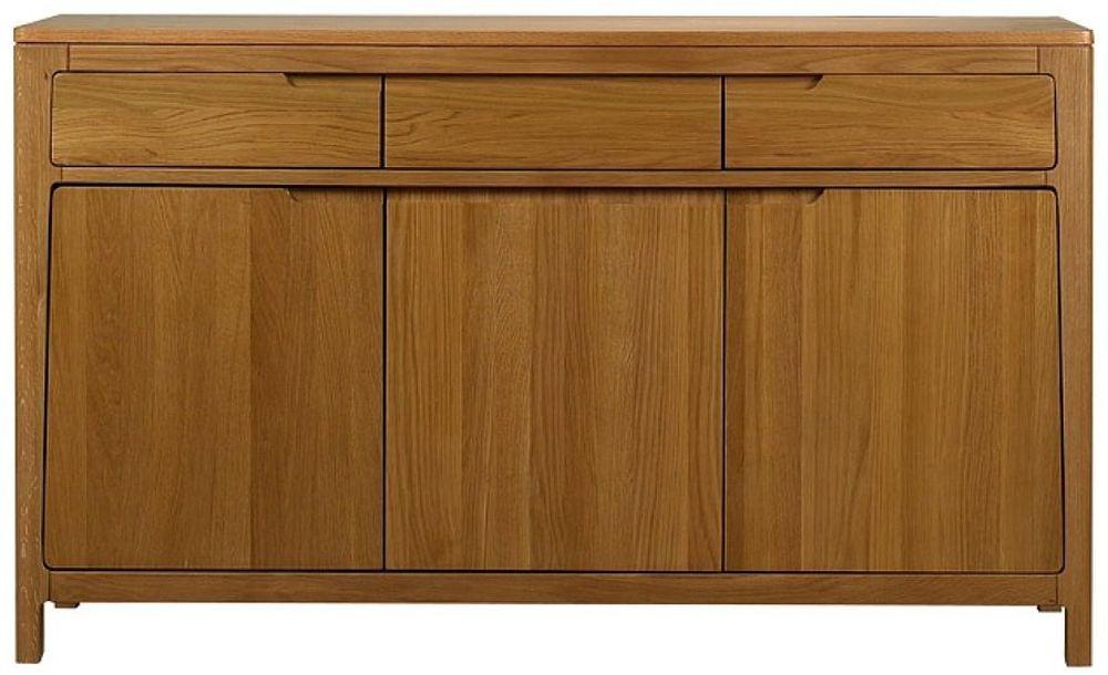 Mark Webster Geo Oak Sideboard - Large 3 Drawer
