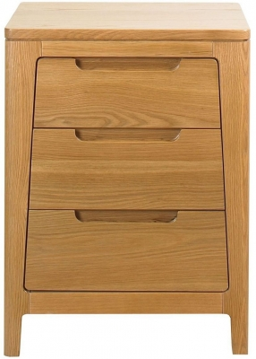 Mark Webster Geo Oak Bedside Cabinet - 3 Drawer