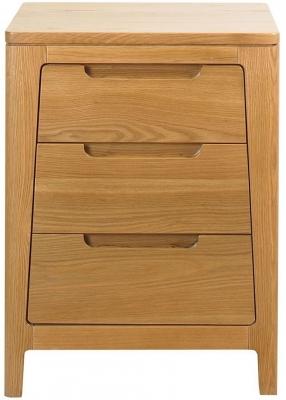 Mark Webster Geo Oak Bedside Cabinet - 3 Drawer
