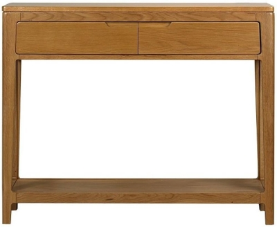 Mark Webster Geo Oak Console Table - 2 Drawer