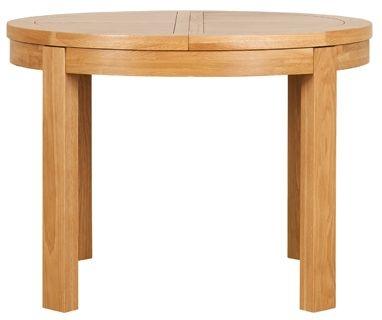 Mark Webster Geo Oak Dining Table - Round Extending