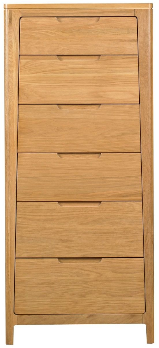 Mark Webster Geo Oak Chest of Drawer - 6 Drawer Tall