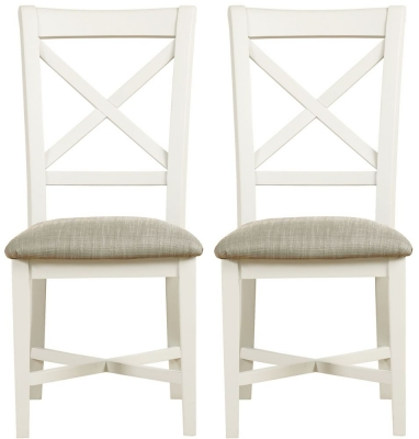 Mark Webster Hemmingway Off White Dining Chair (Pair)