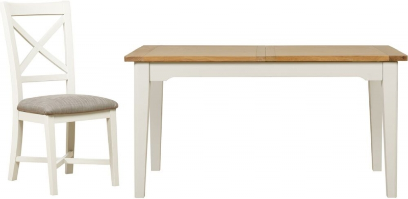 Mark Webster Hemmingway Extending Dining Table and 4 Chairs - Oak and Off White