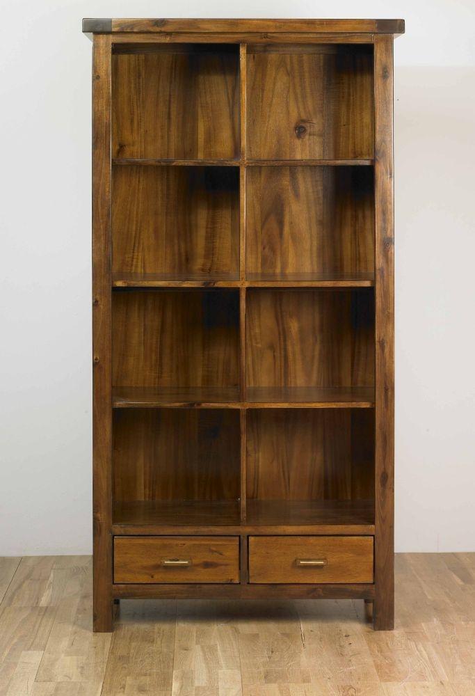 Mark Webster Kember Acacia Bookcase - 2 Drawer