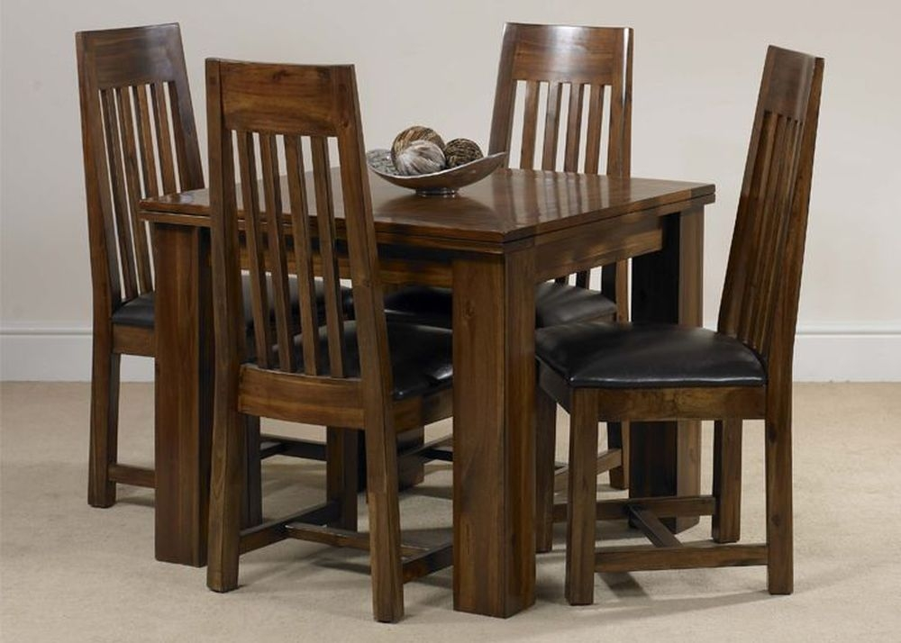 Mark Webster Kember Acacia Dining Set - Flip Top with 4 Chairs