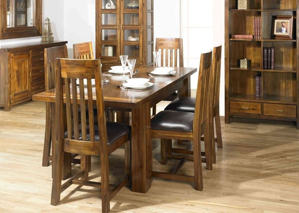 mark webster kember acacia dining set large extending with 6 chairs