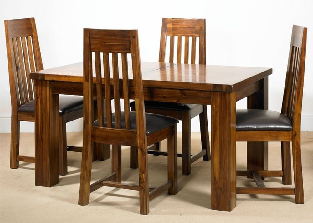Mark Webster Kember Acacia Dining Set - Small Extending with 4 Chairs