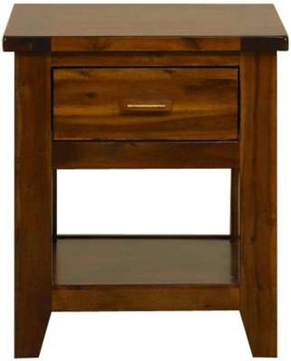 Mark Webster Kember Acacia Bedside Table - 1 Drawer