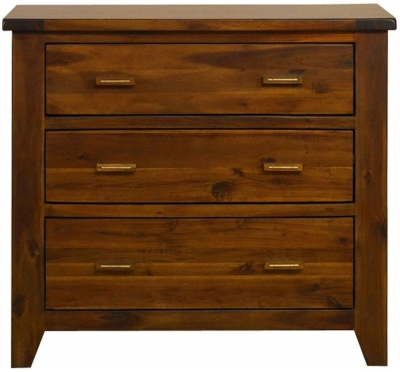 Mark Webster Kember Acacia Chest of Drawer - 3 Drawer