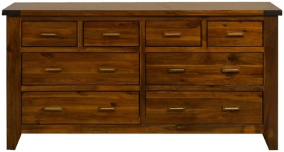 Mark Webster Kember Acacia Chest of Drawer - 8 Drawer Wide