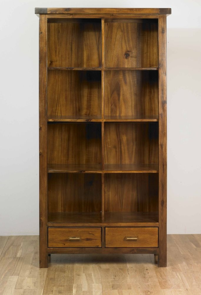 Mark Webster Kember Acacia Bookcase - 2 Drawer