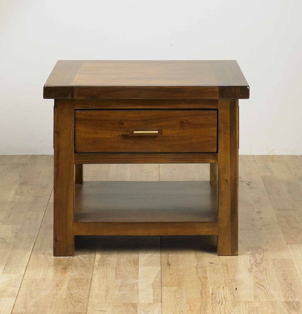 Buy Mark Webster Kember Acacia Lamp Table with Drawer line CFS UK