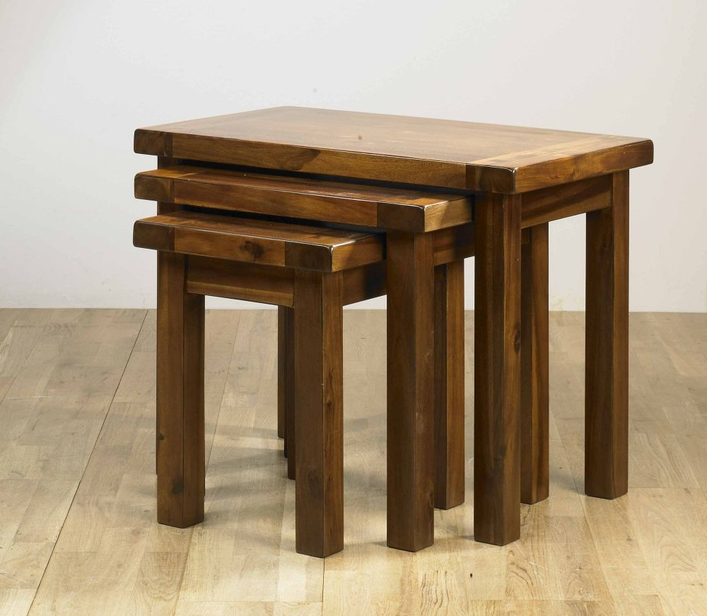 Mark Webster Kember Acacia Nest of Tables