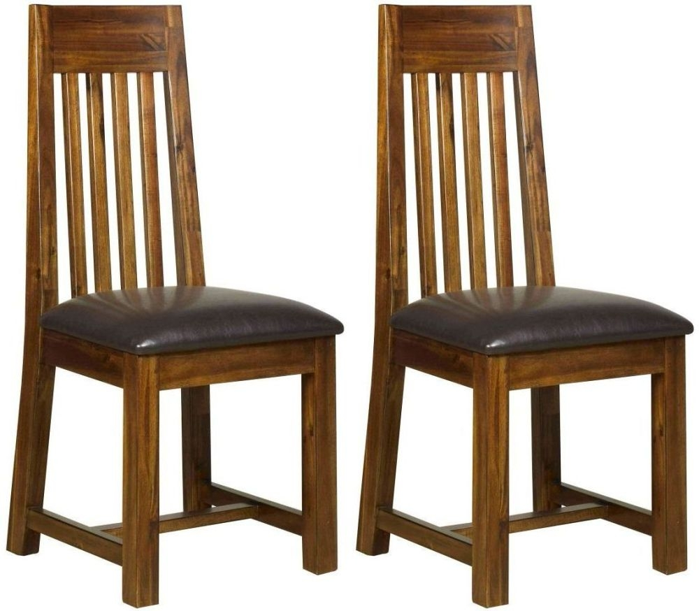 Mark Webster Kember Solid Acacia Dining Chair (Pair)