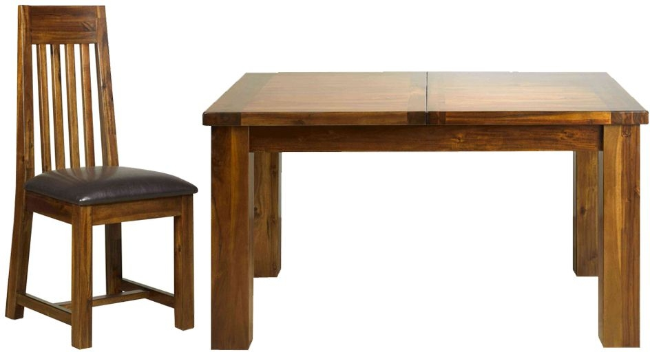 Mark Webster Kember Solid Acacia Extending Dining Table and 4 Chairs