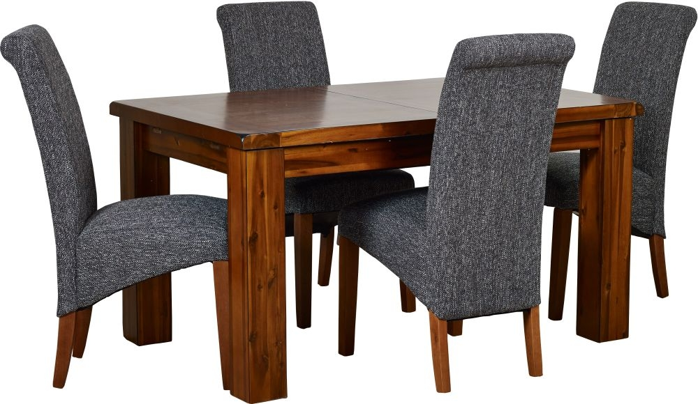 Mark Webster Kember Solid Acacia Extending Dining Table and 4 Darcy Chairs