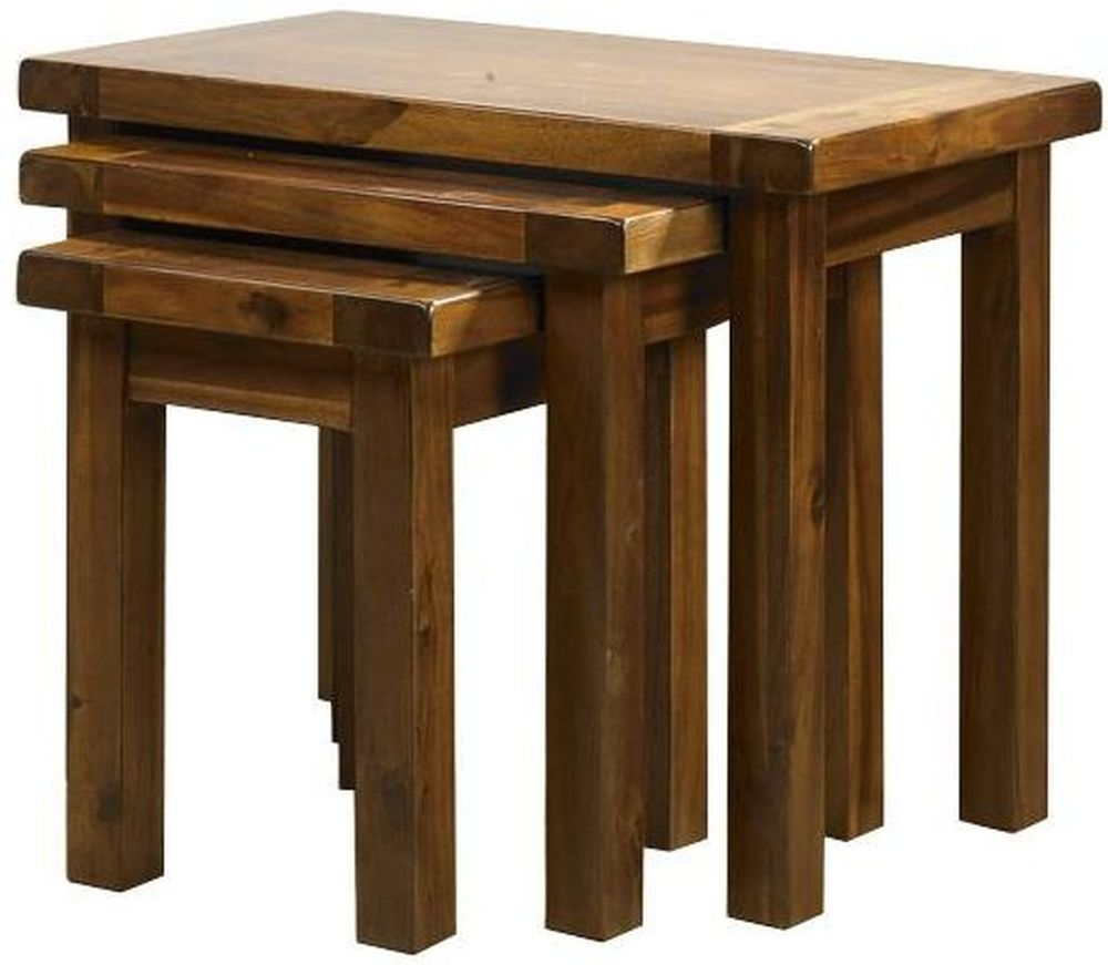 Mark Webster Kember Solid Acacia Nest of 3 Tables