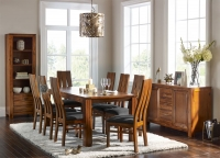 Mark Webster Kyoto Acacia Rectangular Extending Dining Set with 6 Chairs - 140cm-190cm