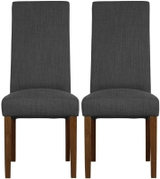 Mark Webster Kyoto Acacia Steel Fabric Dining Chair (Pair)