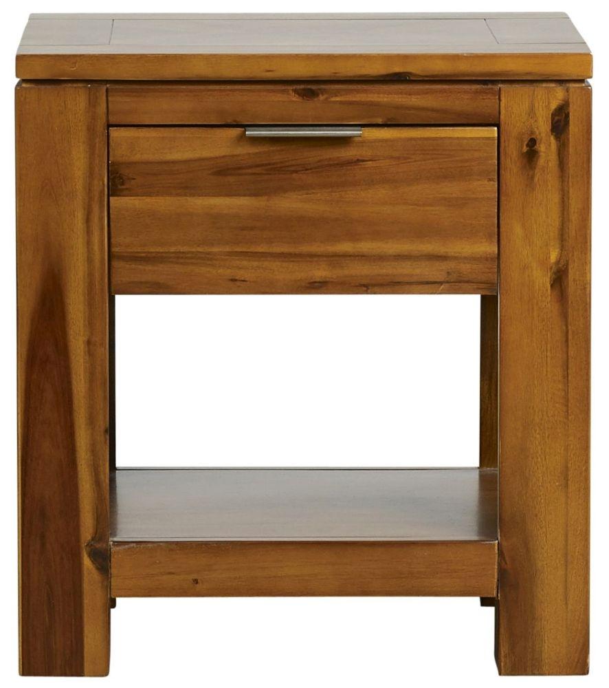 Mark Webster Kyoto Acacia 1 Drawer Lamp Table