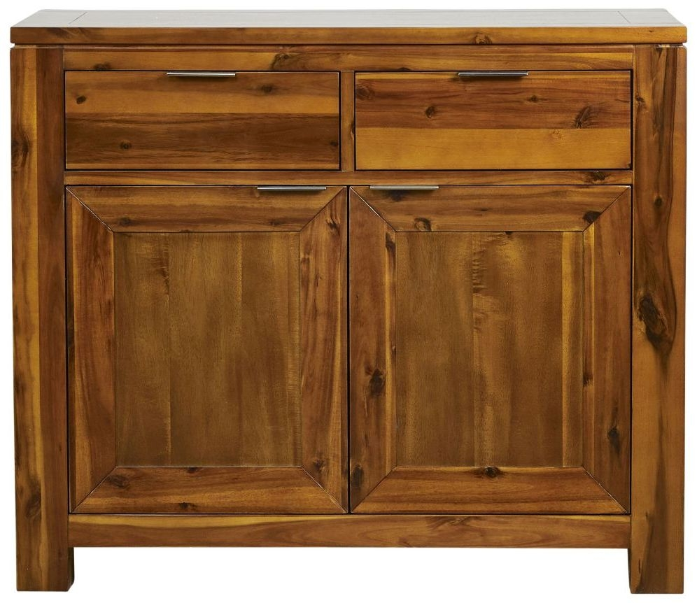 Mark Webster Kyoto Acacia 2 Door 2 Drawer Narrow Sideboard