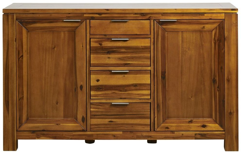 Mark Webster Kyoto Acacia 2 Door 4 Drawer Wide Sideboard