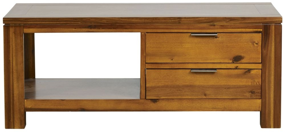 Mark Webster Kyoto Acacia 4 Drawer Storage Coffee Table