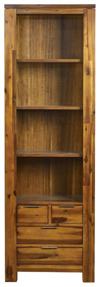 Mark Webster Kyoto Acacia 4 Drawer Tall Bookcase