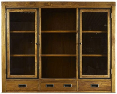 Mark Webster Lambourne Glazed Hutch - Large 2 Door 3 Drawer