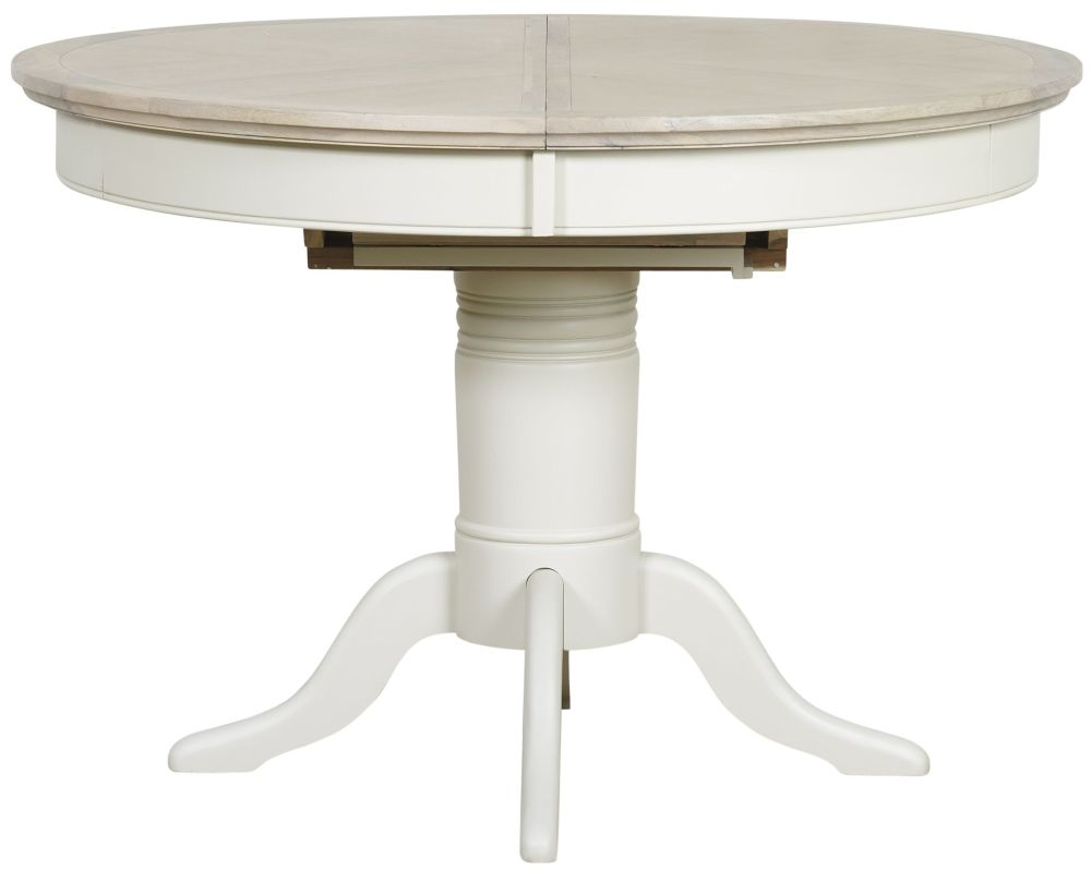 Mark Webster Lily Round Extending Dining Table - Grey Cashew