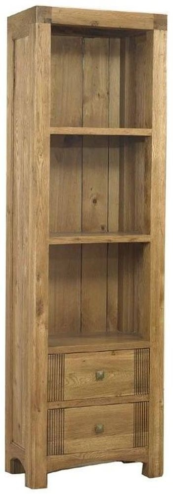 Mark Webster Linosa Oak Bookcase with 2 Shelves