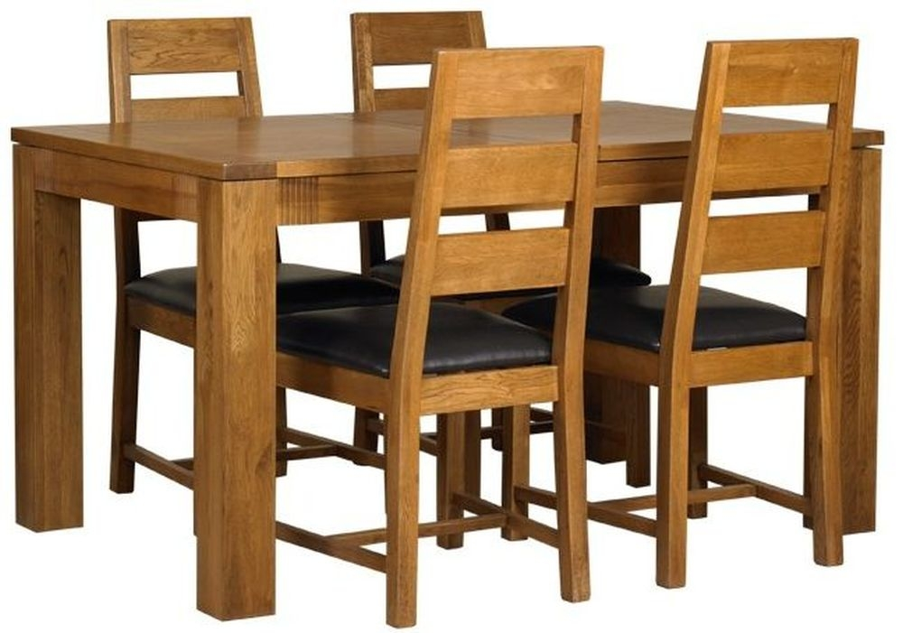 Mark Webster Linosa Oak Dining Set - Small Extending with 4 Chairs