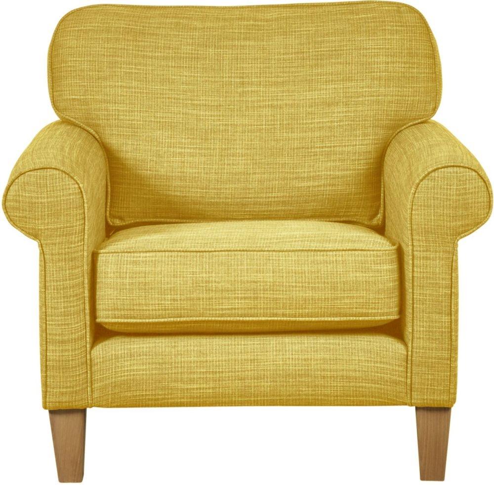 Mark Webster Maddison Ochre Fabric Chair