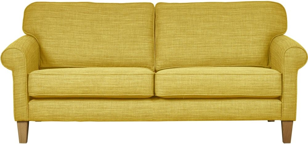 Mark Webster Maddison Ochre Fabric Large Sofa