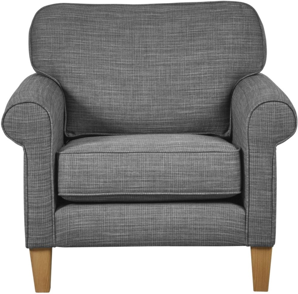 Mark Webster Maddison Pewter Fabric Chair