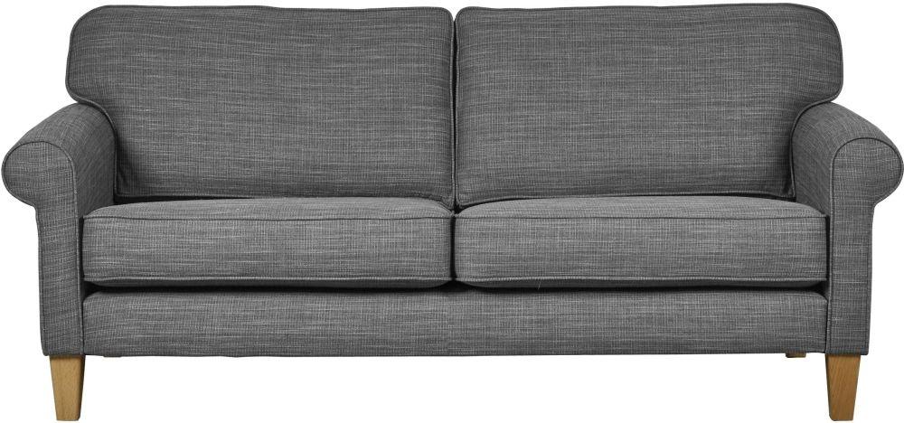 Mark Webster Maddison Pewter Fabric Large Sofa